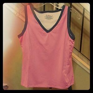 Danskin Now L 12/14 Pink Workout Tanktop